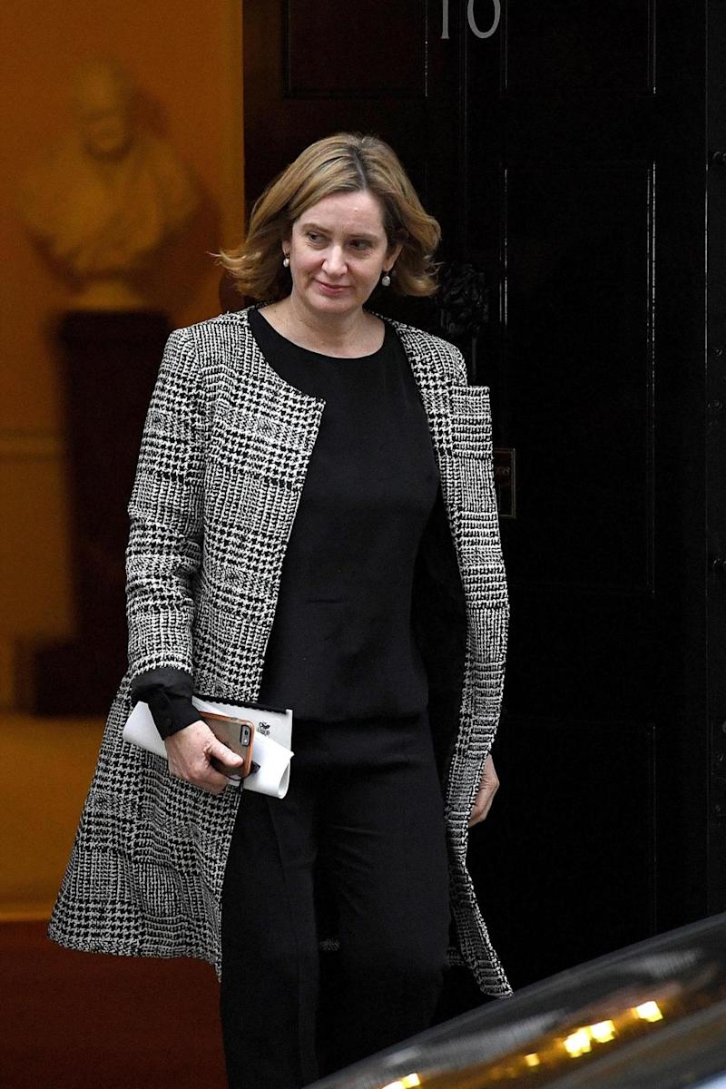 "Amber Rudd said she was ""absolutely convinced and absolutely committed"" to the idea of Alexanda Kotey and El Shafee Elsheikh ""facing justice"" (Getty Images)"