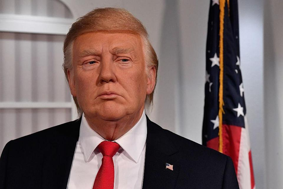 Another view of the new Donald Trump wax figure