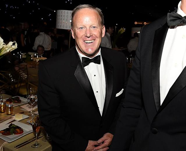 <p>Former White House press secretary Sean Spicer at the Governors Ball. (Photo: Kevin Winter/Getty Images) </p>