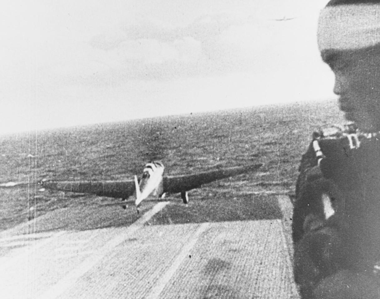 <p>A Japanese Navy Type 97 Kate carrier attack plane takes off from the aircraft carrier Shokaku, en route to attack Pearl Harbor on Dec. 7, 1941. (U.S. Navy/National Archives/Handout via Reuters) </p>