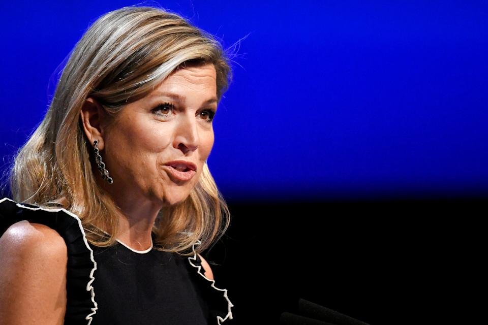 Queen Maxima of the Netherlands speaks at the Global Entrepreneurship Summit 2019 (GES 2019) in The Hague, Netherlands June 4, 2019. REUTERS/Piroschka van de Wouw
