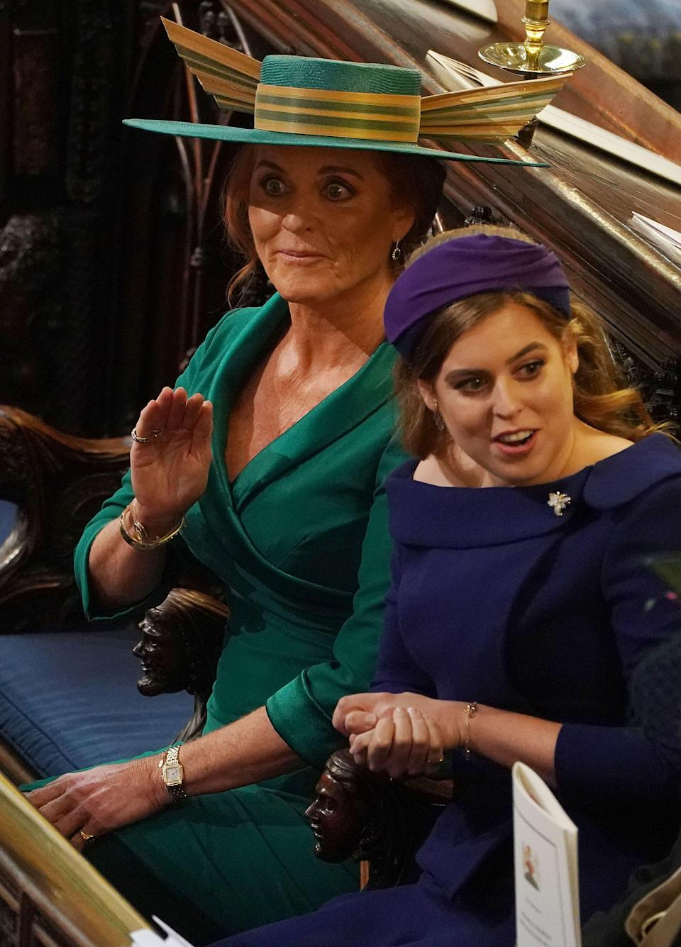 <p>When Fergie waved a paw in what we can only assume was a distress signal. </p>