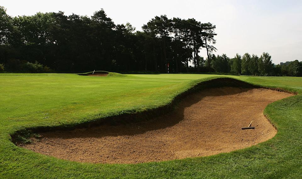 A generic view of the 1st green during the Senior PGA Professional Championships at Northampton County Golf Club on May 29 in Northampton, England.  (Photo by Matthew Lewis/Getty Images)