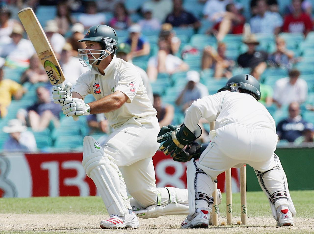 SYDNEY, NSW - JANUARY 06:  Ricky Ponting of Australia in action during day five of the Third Test between Australia and South Africa played at the SCG on January 6, 2006 in Sydney, Australia.  (Photo by Hamish Blair/Getty Images)