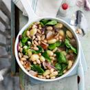 """<p>You can still enjoy higher-fat ingredients, like sausages, but make them go further by bulking the dish up with healthier alternatives.</p><p><strong>Recipe: <a href=""""https://www.goodhousekeeping.com/uk/food/recipes/a536814/sausage-and-gnocchi-one-pan/"""" rel=""""nofollow noopener"""" target=""""_blank"""" data-ylk=""""slk:Sausage and gnocchi one pan"""" class=""""link rapid-noclick-resp"""">Sausage and gnocchi one pan</a></strong></p>"""