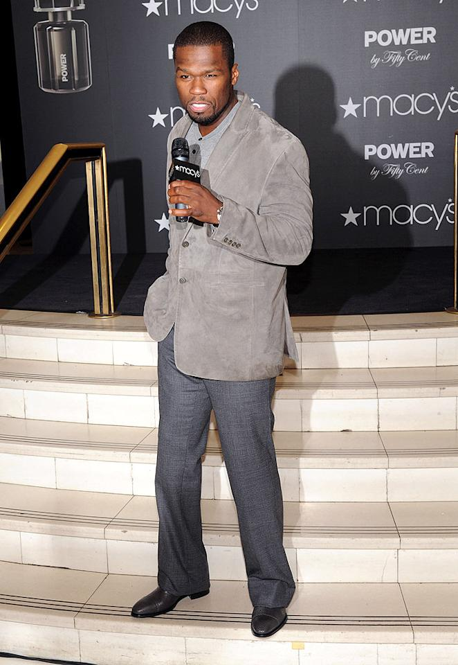 """The fragrance Power was an idea I came up with,"" 50 told MTV News at the unveiling. ""I wanted to offer confidence. I wanted to make something that smells like success."" Jason Kempin/<a href=""http://www.gettyimages.com/"" target=""new"">GettyImages.com</a> - November 5, 2009"