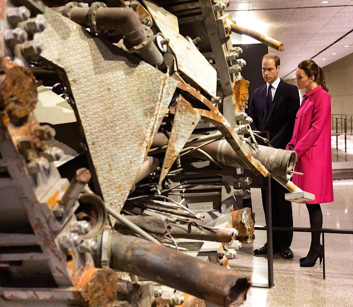 <p>The couple visited the National September 11 Memorial & Museum while in N.Y.C., viewing the remains of the former broadcast tower from the World Trade Center. </p>