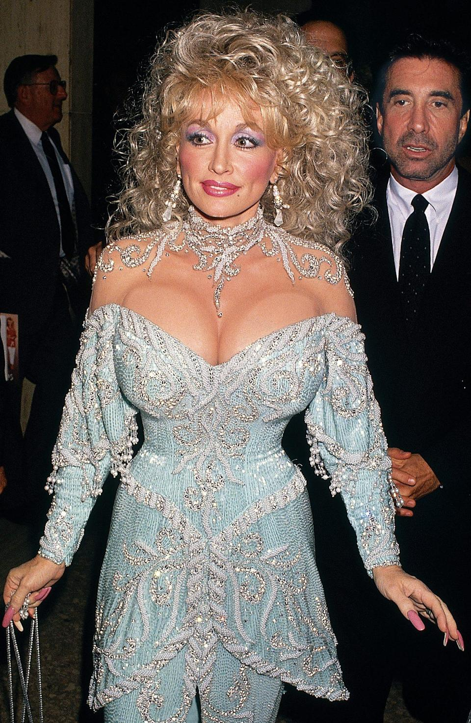 """<p>""""I am feminine, and I am strong. The <em>Steel Magnolia</em>-type thing,"""" Parton (at the premiere of the film in 1989) told PEOPLE last year.</p>"""