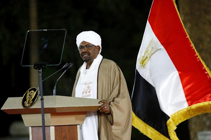 Sudanese President Omar al-Bashir has remained defiant during more than two months of protest (AFP Photo/ASHRAF SHAZLY)