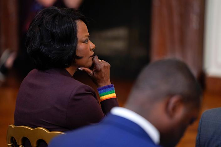 Rep. Val Demings, D-Fla., at a White House Pride Month event in Washington, D.C., on June 25, 2021.