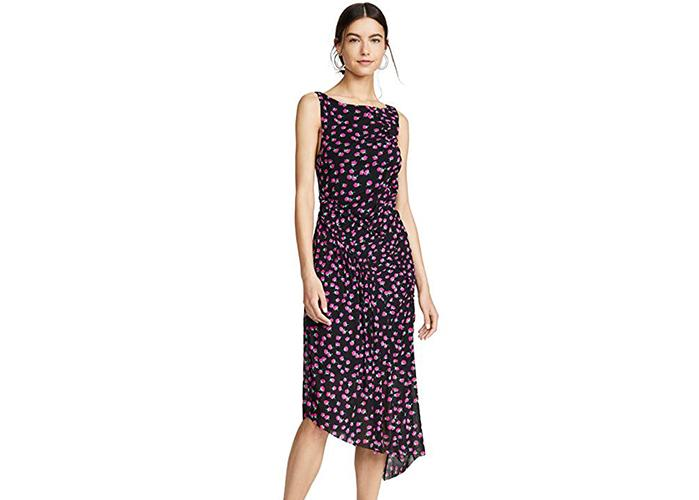 If you're looking for a curve-hugging, flattering dress in a gorgeous print, look no further. (Photo: Amazon)