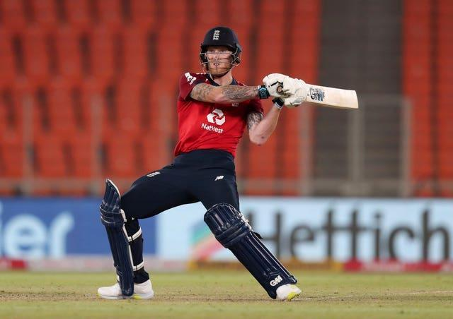 Ben Stokes batting for England in India
