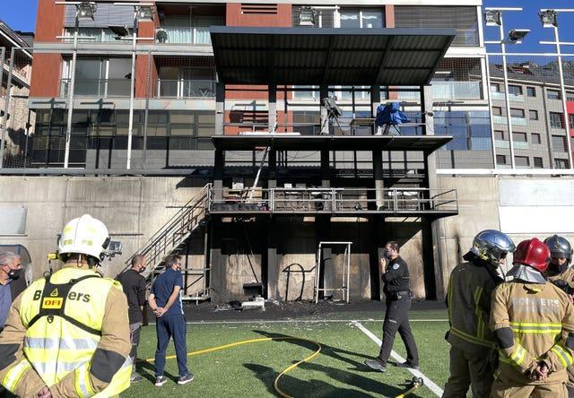 The fire has caused significant damage