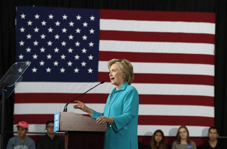 Hillary Clinton speaks at a campaign event at Truckee Meadows Community College in Reno, Nev., on Thursday. (Photo: Carolyn Kaster/AP)