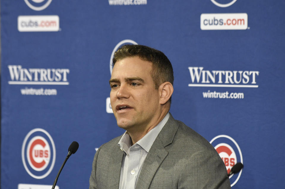 Theo Epstein is stepping down as Cubs president of baseball operations after nine seasons. (Photo by David Banks/Getty Images)