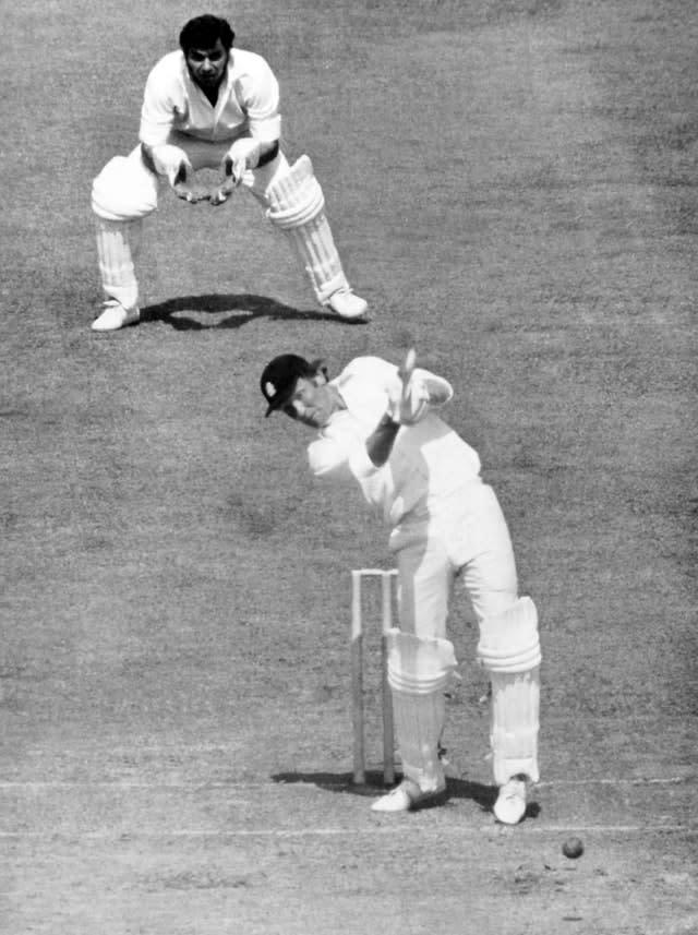 Mike Denness lit the touch paper at the 1975 World Cup (PA)