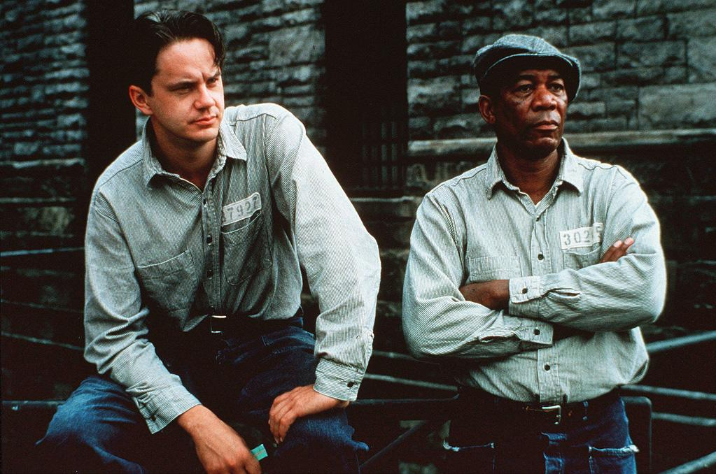 "<a href=""http://movies.yahoo.com/movie/1800223031/info"">THE SHAWSHANK REDEMPTION</a> (1994)   And in contrast, Frank Darabont's version of King's short story ""Rita Hayworth and Shawshank Redemption"" is the author's favorite adaptation of his work. Originally, Morgan Freeman's character Red was written as a Irishman. In the movie, they left in the line, ""Maybe it's 'cause I'm Irish,"" but played it off as a joke."