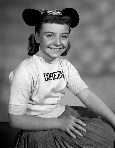 "This undated photo released by Disney, shows Disney Mouseketeer Doreen Tracey. Tracey, a former child star who played one of the original cute-as-a-button Mouseketeers on ""The Mickey Mouse Club"" in the 1950s, died from pneumonia on Wednesday, Jan. 10, 2018, at a hospital in Thousand Oaks, Calif., following a two-year battle with cancer, according to Disney publicist Howard Green. She was 74. (Disney via AP)"