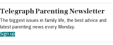 Telegraph Parenting newsletter (REFERRAL) article