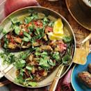 """<p>The name of this seductive dish, Imam Bayildi, means 'The Priest Fainted' – most likely at the richness of it!</p><p><strong>Recipe: <a href=""""https://www.goodhousekeeping.com/uk/food/recipes/a536990/stuffed-aubergines/"""" rel=""""nofollow noopener"""" target=""""_blank"""" data-ylk=""""slk:Stuffed Aubergines"""" class=""""link rapid-noclick-resp"""">Stuffed Aubergines</a></strong></p>"""