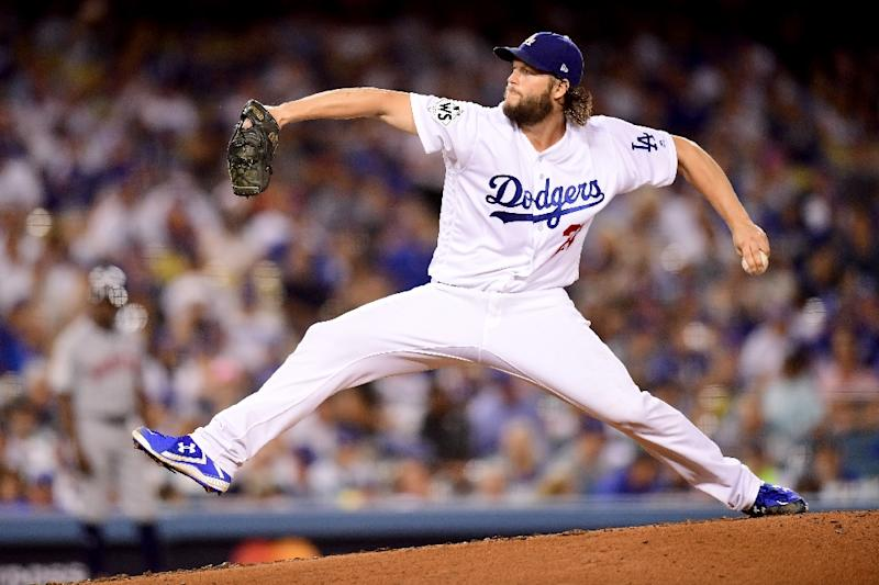sizzling kershaw pitches los angeles dodgers to world series leadclayton kershaw of the los angeles dodgers pitches during the seventh inning against the houston astros
