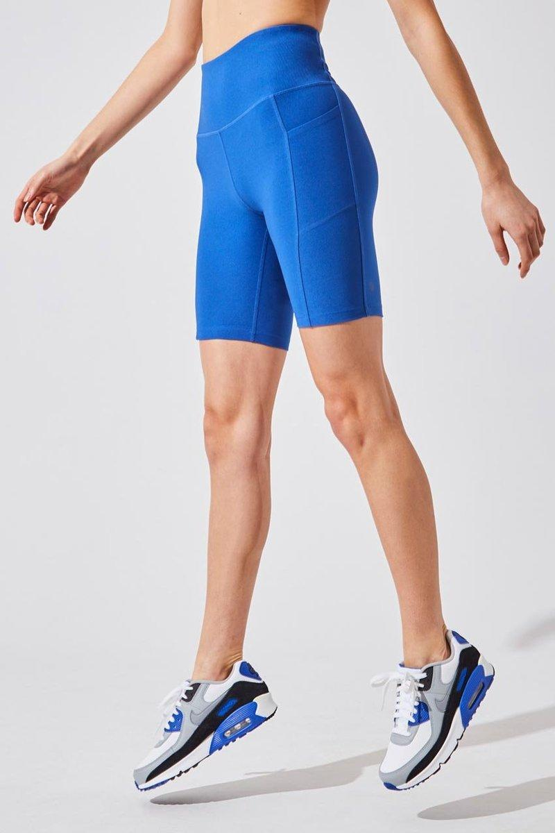 Brisk High Waisted Recycled Polyester Biker Short. Image via MPG Sport.