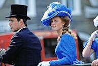 <p>The Duke and Duchess of York show off their Klonlike costumes around Fort Edmonton, Canada. </p>
