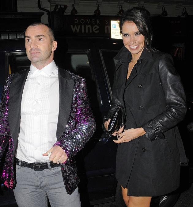 Dancing on Ice's Louie Spence and Christine Bleakley partied together.