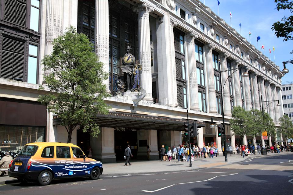 Selfridges department store in Oxford Street is an iconic London landmark. (Getty Images)