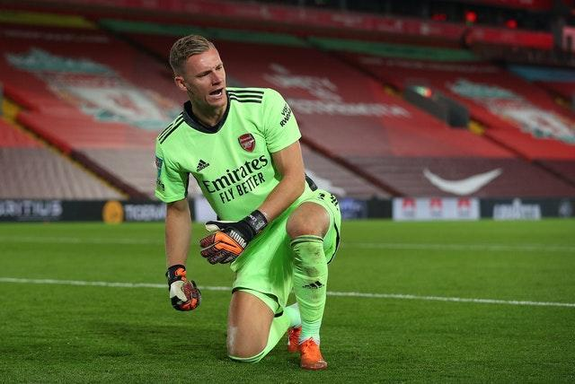 Bernd Leno has started every Arsenal match since missing the Community Shield win over Liverpool.