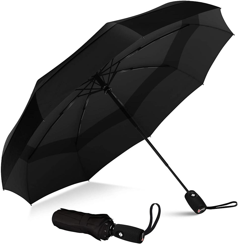 The Windproof Double Vented Travel Umbrella with Teflon Coating is a top choice among Amazon Canada shoppers.