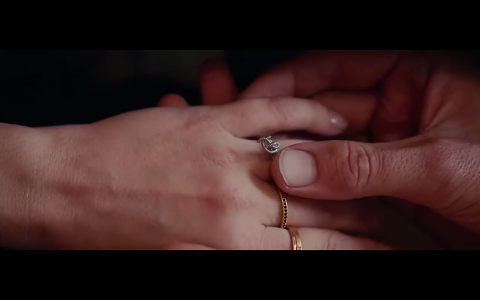 <p>While there were many heart-melting moments in <em>A Star is Born,</em> the proposal with the tied guitar string ring and private moment just between Ally and Jack was one of our all-time favorites.</p>