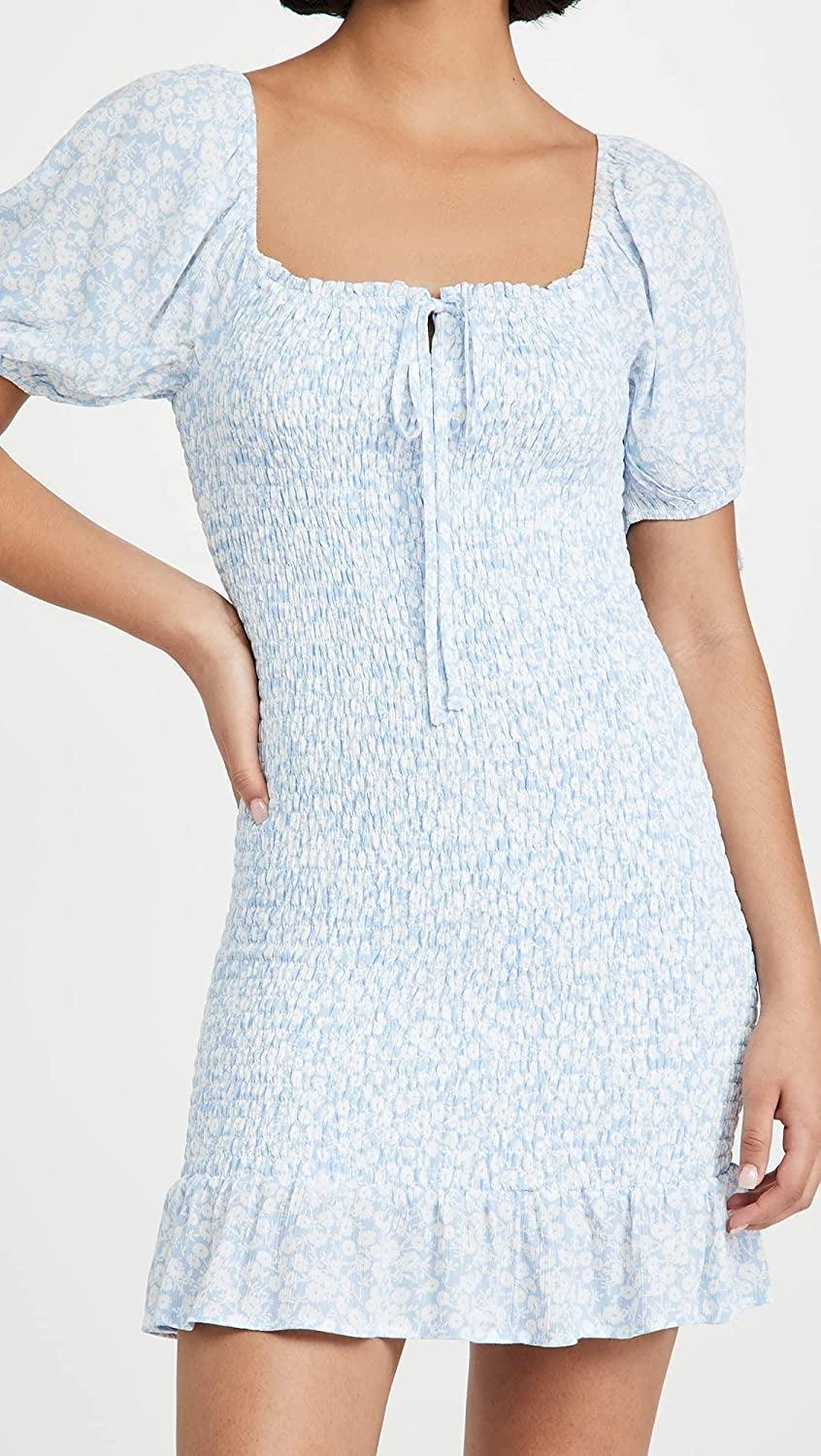 <p>This <span>Lost + Wander Wander My Way Minidress</span> ($76) is a great fit for picnics or cute day parties. We like the charming floral print, sweet sleeves and tie details.</p>