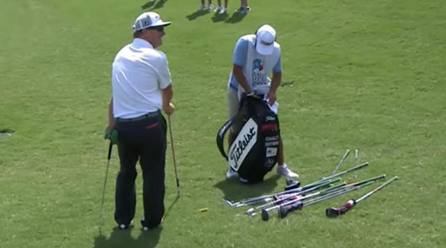 Things got a little sticky for Charley Hoffman during the first round of the Valero Texas Open Thursday.