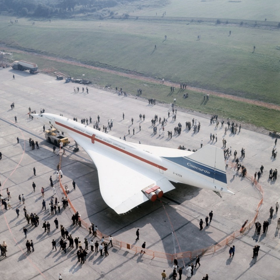 <p>Il debutto del Concorde 002 vicino Bristol (Foto: Victor Drees/Daily Express/Hulton Archive/Getty Images) </p>