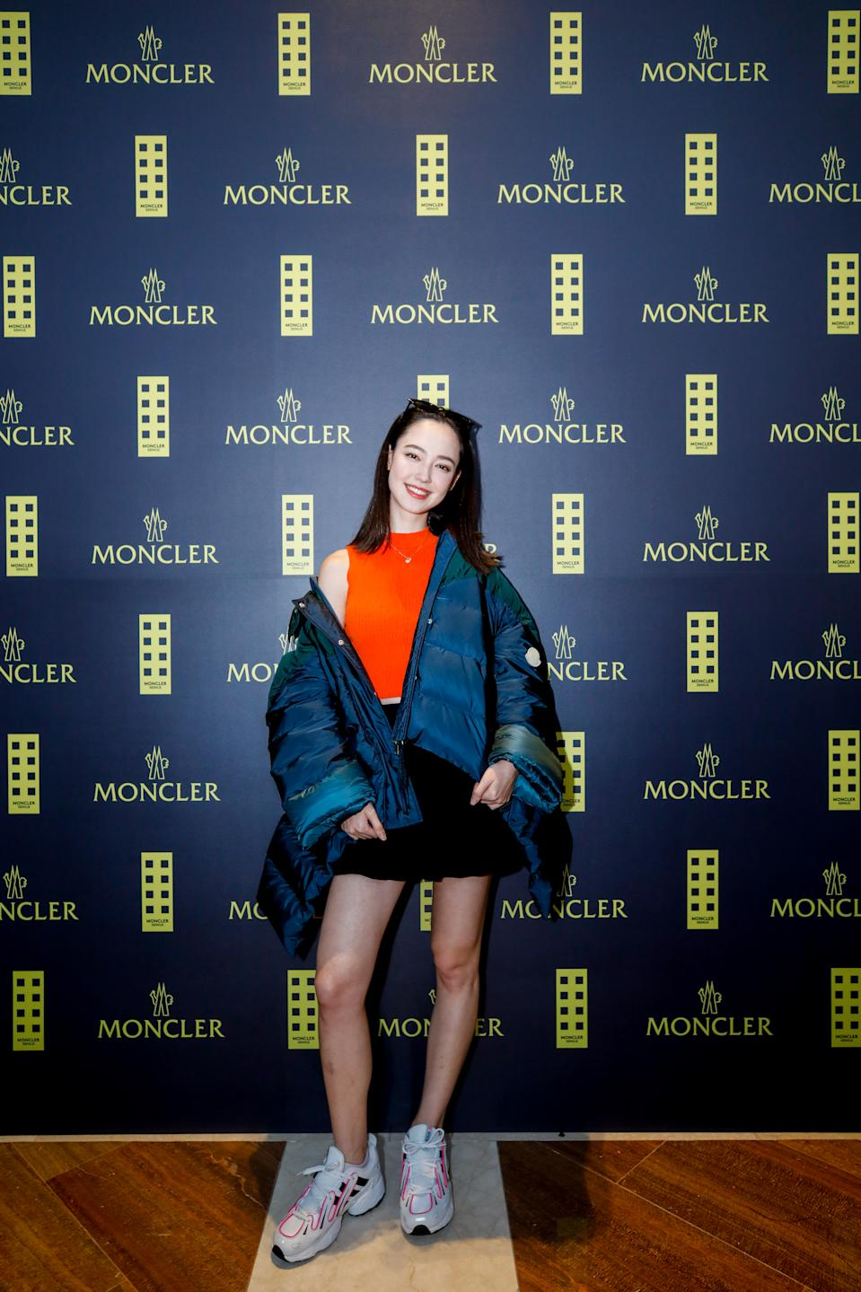 Fiona Fussi at Moncler Launch. (PHOTO: Moncler)