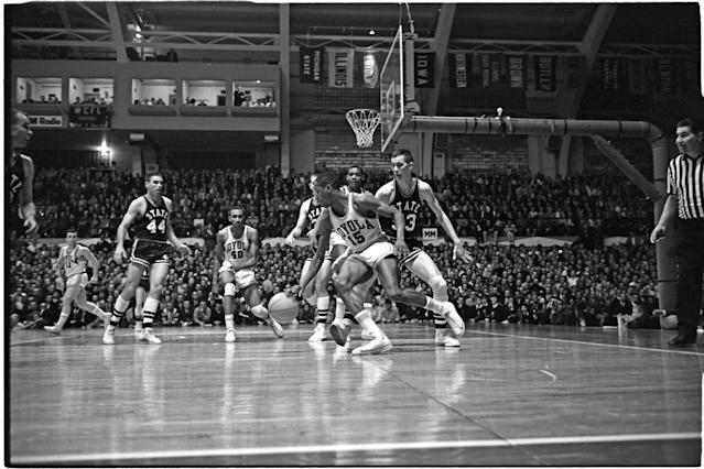 Mississippi State players had to literally sneak out of Mississippi in order to play against Loyola Chicago in the 1963 NCAA tournament. The Ramblers won their game and would go on to win the national championship. (AP)