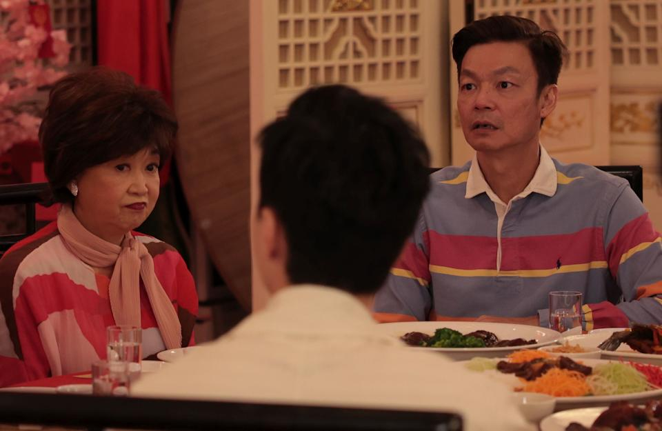 Mimi Choo and Mark Lee in Reunion Dinner. (Photo: Golden Village Pictures)