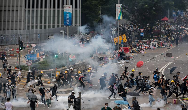 """(Bloomberg) -- Hong Kong's leader suspended efforts to pass a bill allowing extraditions to China, in a dramatic reversal that she said was necessary to restore order in the Asian financial hub and avoid further violence and mass protests.Carrie Lam, Hong Kong's chief executive, announced the legislative """"pause"""" at a news conference Saturday, even as activists asked hundreds of thousands of residents who marched in protest last weekend to return to the streets and demand her resignation. Lam acknowledged that debate had shattered a period of relative calm in the former British colony, including clashes between demonstrators and police Wednesday that left more than 80 people hurt.""""Polarizing views in relation to this bill in society have given rise to violence, very serious confrontations,"""" Lam told reporters in a briefing that lasted 75 minutes. """"That's why I have come to the view that I have to do something decisively to address the issue of how could I restore as fast as possible the calm in society, and how could I avoid any more law enforcement officers and ordinary citizens being injured.""""Lam stopped short of withdrawing the proposal, which would let Hong Kong reach one-time agreements with mainland China and other jurisdictions, arguing that would contradict her belief that reform was necessary. She said, however, it was unlikely the government would seek its passage before the end of the year.Hong Kong and Macau Affairs Office, the Beijing-based agency that oversees the city, expressed """"support, respect and understanding,"""" the official Xinhua News Agency said Saturday, citing an unnamed spokesman. The statement echoed Lam's own remarks during her news conference, in which she repeatedly said the decision to suspend consideration was her own.Lam's decision """"will certainly ease tensions of the general public a lot,"""" Felix Chung, who represents the textile and garments industries as a pro-establishment member of Hong Kong's legislature, said in a phone interview"""