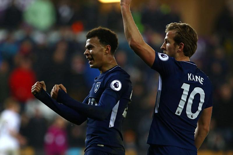 Late show: Kane and Alli combined for Tottenham's second: AFP/Getty Images