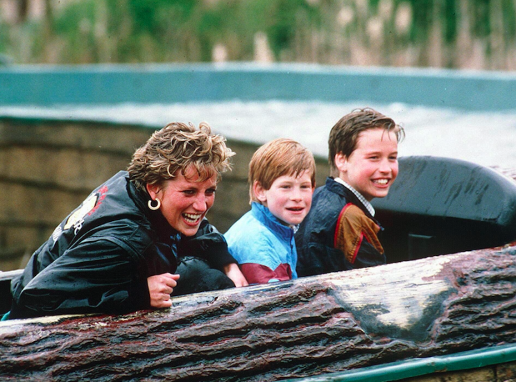 Diana and her sons Harry and William, who took part in an ITV documentary about her life (Picture: Rex)