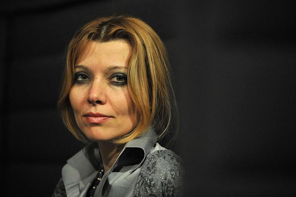Heavy metal fan: Turkish writer Elif shafak poses during the 5th edition of the Women's Forum at the Deauville International Center on October 16, 2009 (MYCHELE DANIAU/AFP via Getty Images)