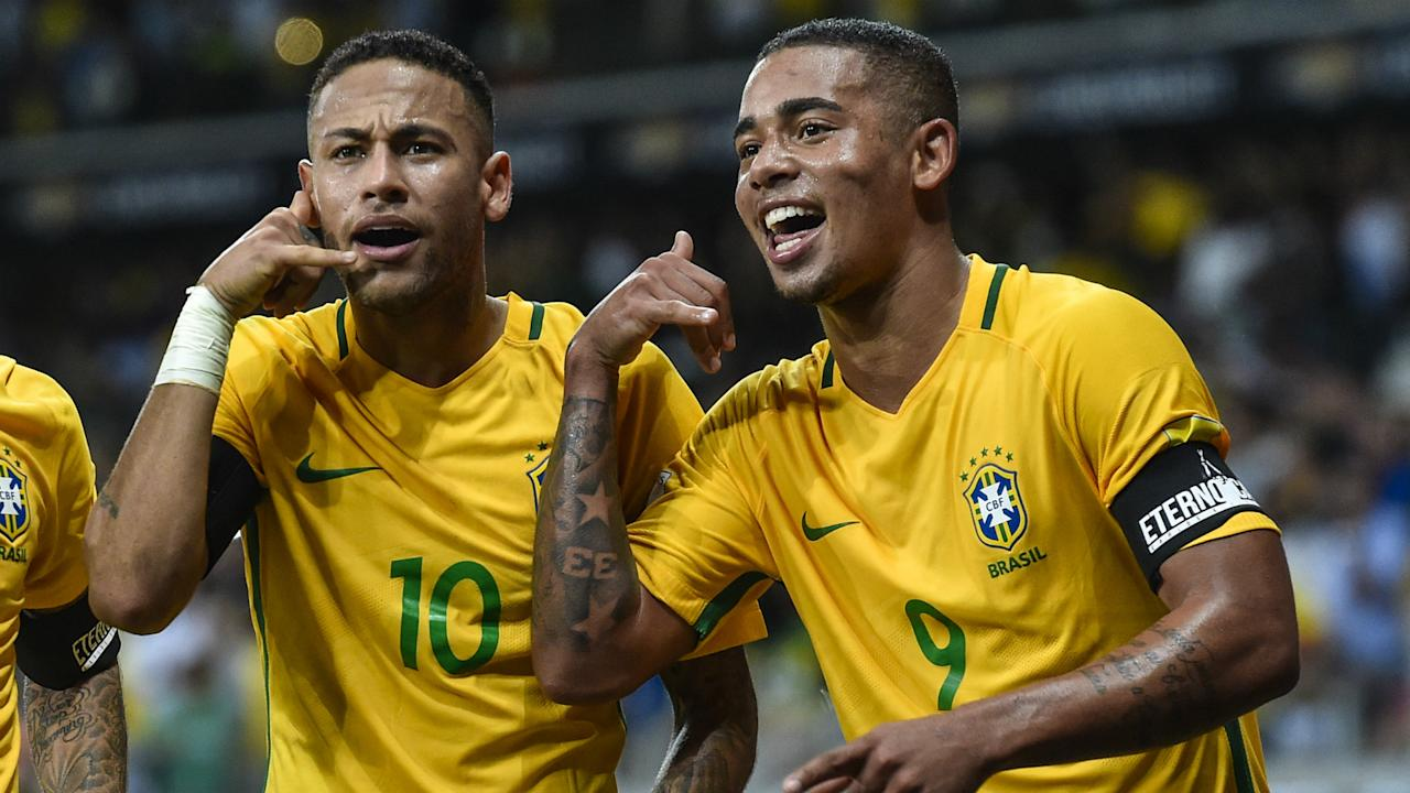 The three-time World Cup winner believes the Manchester City forward can reach the same level as his illustrious Selecao colleague