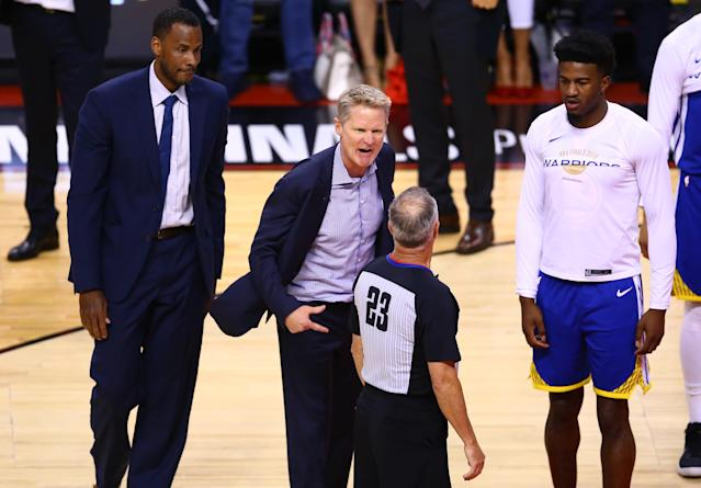 NBA coaches will have a brand new way to disagree with referees next season. (Photo by Vaughn Ridley/Getty Images)