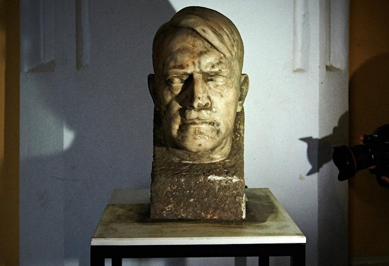 A marble bust of German dictator Adolf Hitler is pictured at the National Museum in Gdansk, Poland, November 5, 2015