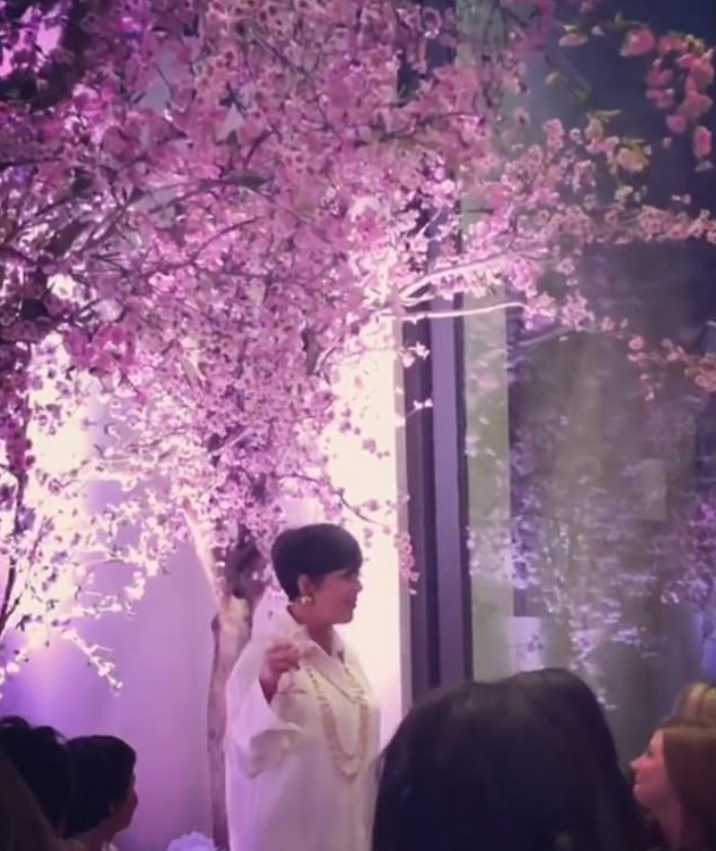 Momager Kris Jenner was seen at Kim's baby shower in an ensemble that could possibly be mistaken for pyjama-like. Source: Instagram