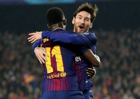 Messi hits century in emphatic Barca win over Chelsea