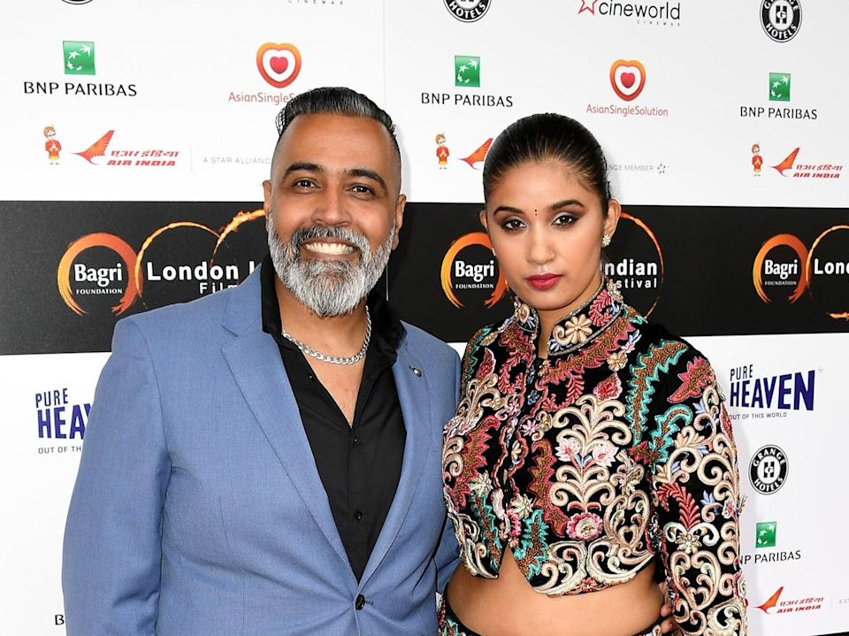 Sunny and Shay Grewal during the London Indian Film Festival in 2016 (Getty Images)