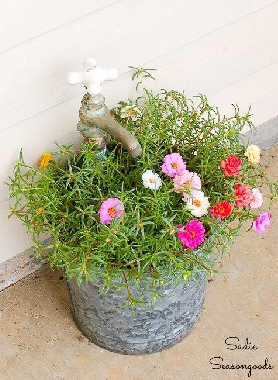 """<p>This tutorial offers an easy way to give your planter vintage flair by using a galvanized bucket and an old faucet. </p><p><strong>Get the tutorial at <a href=""""https://www.sadieseasongoods.com/vintage-bucket-and-faucet-planter/"""" rel=""""nofollow noopener"""" target=""""_blank"""" data-ylk=""""slk:Sadie Seasongoods"""" class=""""link rapid-noclick-resp"""">Sadie Seasongoods</a>.</strong></p><p><a class=""""link rapid-noclick-resp"""" href=""""https://go.redirectingat.com?id=74968X1596630&url=https%3A%2F%2Fwww.walmart.com%2Fip%2FWay-to-Celebrate-Galvanized-Bucket-with-Gold-Handle-4%2F281477198&sref=https%3A%2F%2Fwww.thepioneerwoman.com%2Fhome-lifestyle%2Fgardening%2Fg36556911%2Fdiy-planters%2F"""" rel=""""nofollow noopener"""" target=""""_blank"""" data-ylk=""""slk:SHOP BUCKETS"""">SHOP BUCKETS</a></p>"""