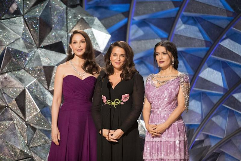 Ashley Judd, Salma Hayek and Annabella Sciorra fronted a special campaign that has arguably transformed the Oscars into a truly equal celebration. Source: Getty